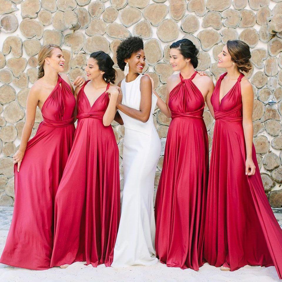 Vestido de Festa Longo Sexy Backless Backless Brautjungfer Kleid Sleeveless Halfter Spaghetti Strap Bodenlangen Hochzeit Gastkleider