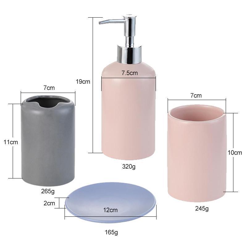 Eco Friendly Grün Fünf -teilige Set Keramik Badezimmer Zubehör-Set Flasche Cup Seifenschale Zahnbürstenhalter Hochzeit Versorgung