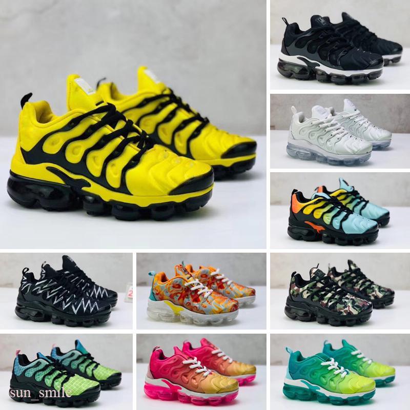 Nike Air Max Tn plus Hot Kids TN Plus Baby Boy Girl Niños Zapatos atléticos Diseñador de moda Zapatilla de deporte al aire libre Negro Blanco Multi Camuflaje Zapatillas Eur28-35