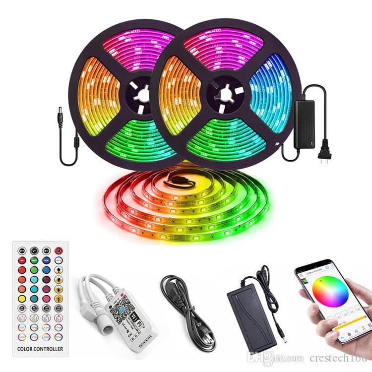 스트립 조명을 LED가 방수 유연한 Led 조명 색상 라이트 원격 40 키 적외선 컨트롤러와 함께 키트 스트립 5050 개 RGB 300 LED를 변경 KIT