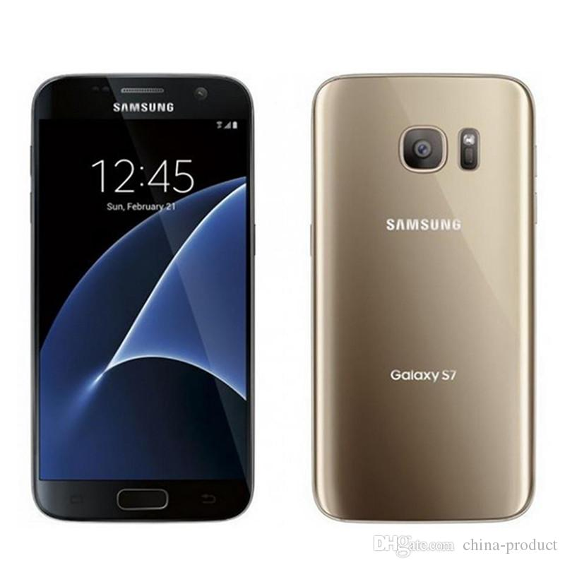 Samsung Galaxy S7 originale G930A G930T G930P G930V G930F Cellulari sbloccati ricondizionati Octa Core 4GB / 32GB 5.1 pollici 12MP Android 6.0