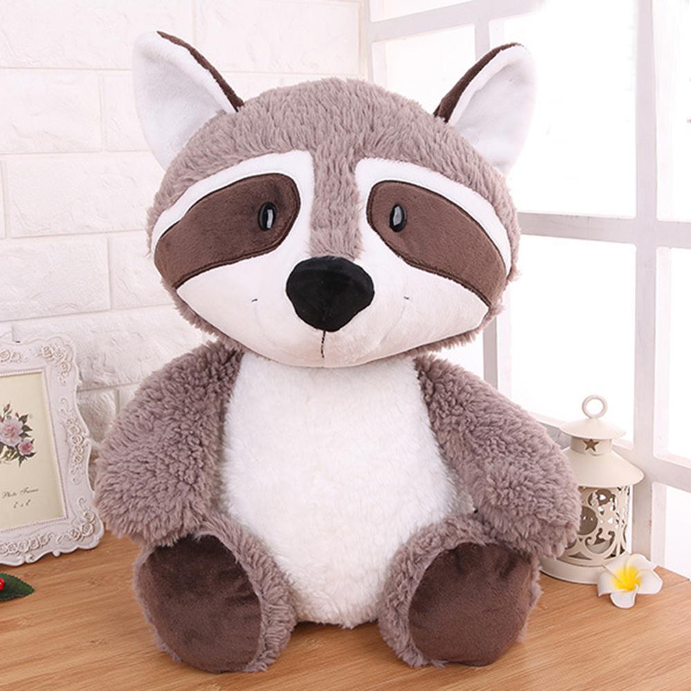 25cm 35cm 55cm Gray Raccoon Plush Toy Lovely Cute Soft Stuffed Animals Doll Pillow For Girls Children Kids Baby Birthday Gift