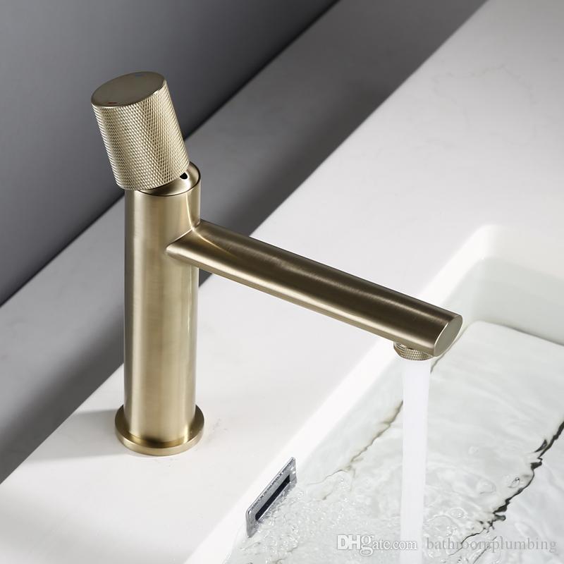 Badezimmer-keramische Kern-Wannen-Hahn nie Rost kalten und heißen Bad Wasserhahn Einhand-Spray-Mischer-Bassin-Hahn