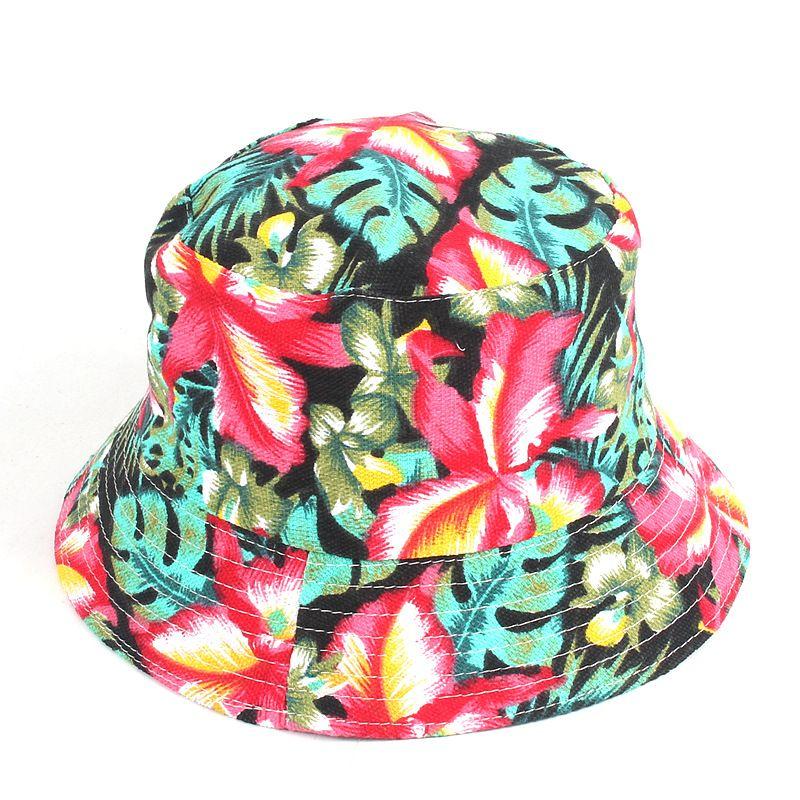 소매 새로운 여성 꽃 태양 모자 꽃 캔버스 버켓 모자 여름 해변 태양 모자 소녀 파나마 캡 모자