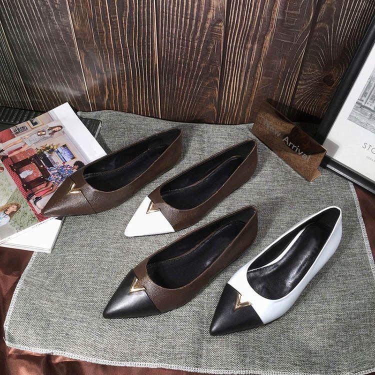 ballerine HEARTBREAKER donne punta delle scarpe del lusso a punta bassa ciao scarpe da donna di marca dimensioni del modello 35-41 YS0105