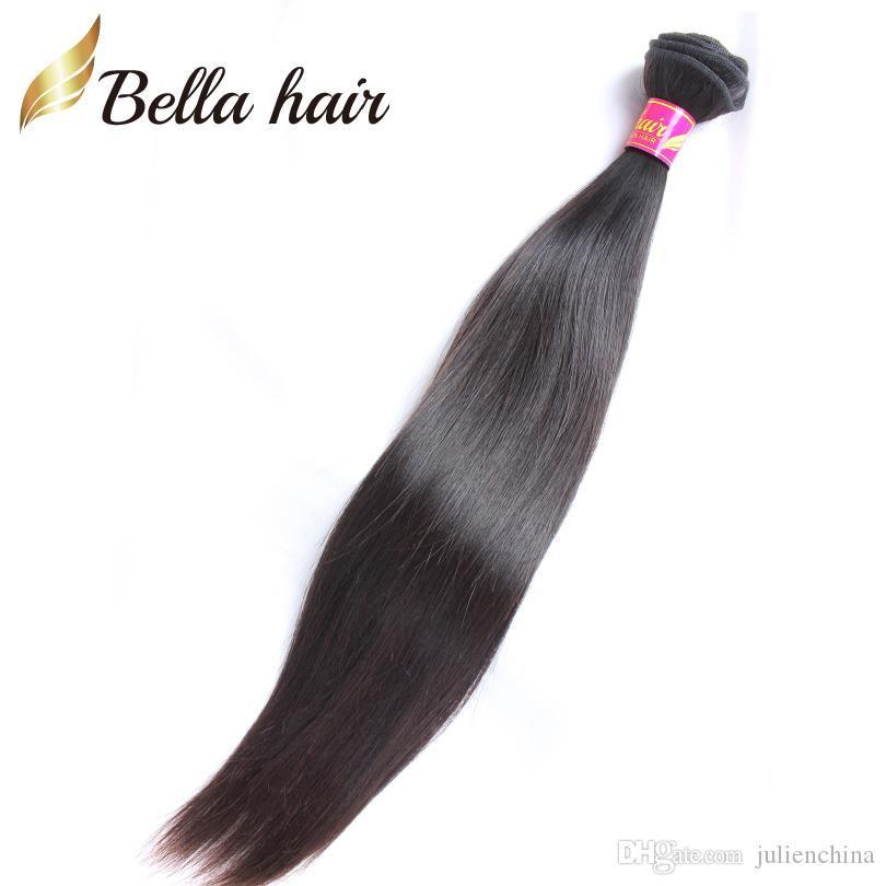 Virgin Indian Straight Hair Bundles Natural Color Double Weft Hair Weaves 2 Bundles 8-30inch Human Hair Extension