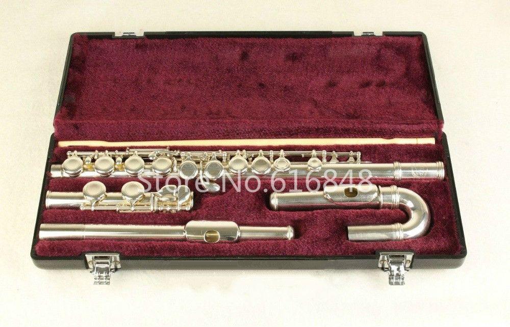 Júpiter JFL-5011E Flauta de sintonía C Agujeros de 16 llaves Flauta cerrada Plateado Flauta con estuche y cabezas curvas pequeñas Marca de instrumentos musicales