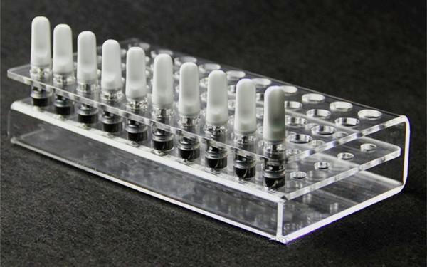 2019 nueva llegada e cigarrillo vape cartucho soporte de exhibición de acrílico soporte para g2 ce3 92a3 cartucho última moda proveedor china