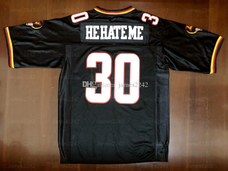"""Rod Smart """"er hasst mich"""" Los Vegas Outlaws # 30 Herren Football Jersey Black S-3XL Hohe Qualität genäht"""