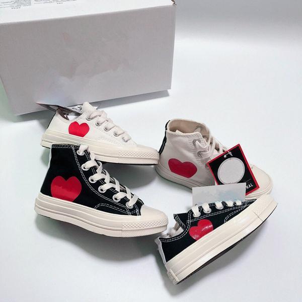 2019 Дети Дизайн Мода Идущие тапки Низкая Высокая Top Skate Big Eye обувь Повседневная обувь size23-35