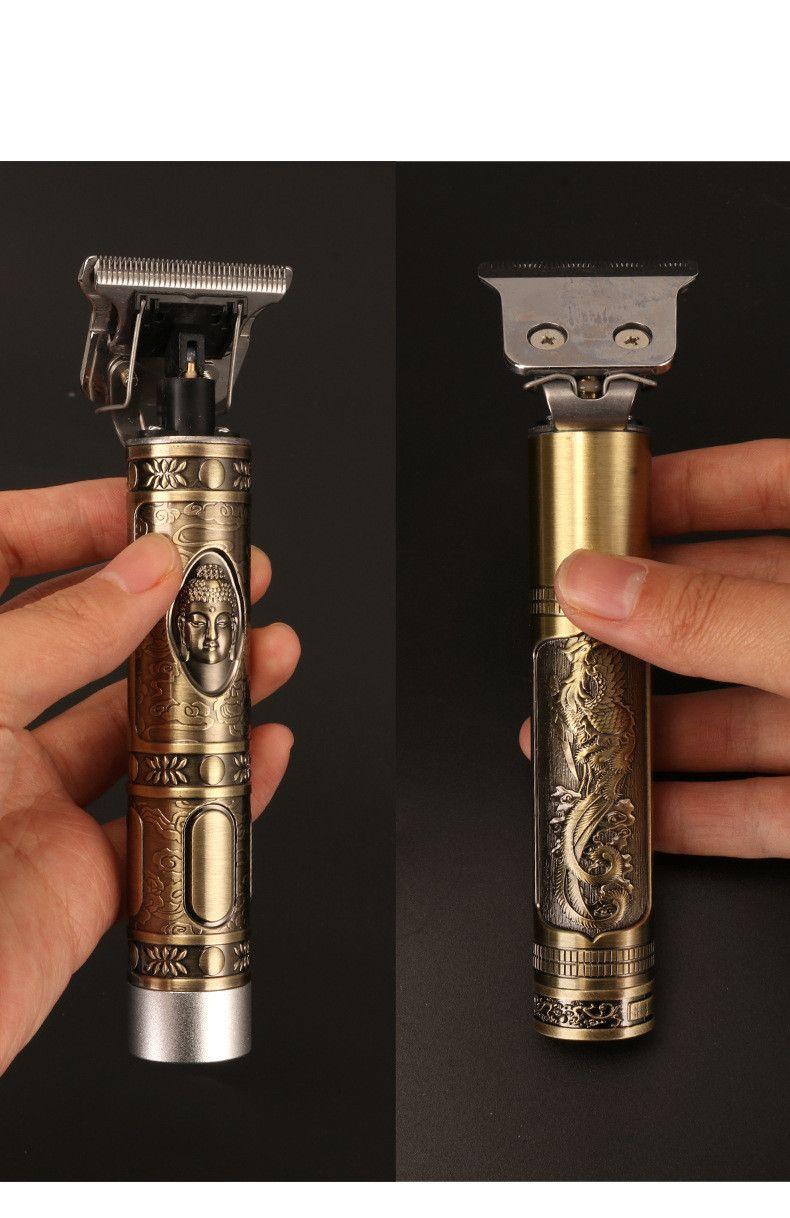 Kemei Hot Sale Hair Clipper Barber Carving Crafs Buddha Retro Cordless Trimmer Homens T-forma do cabelo máquina de corte KM-1974 Professional