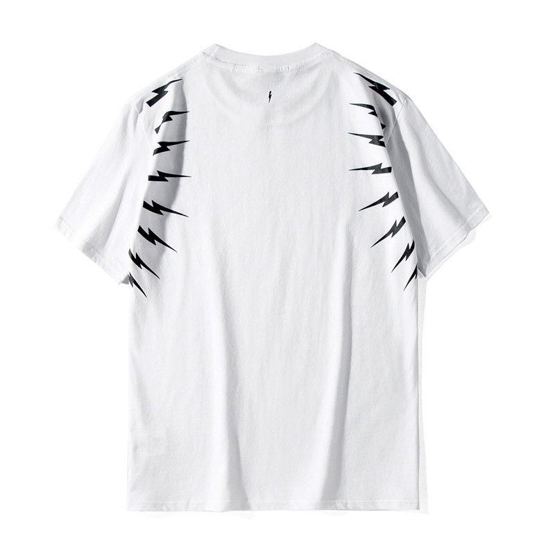 19SS Herren T-Shirt-Qualitäts-Art und Weise beiläufige Paare Kurzarm Herren Druck-Rundhalsausschnitt Schwarz Sport-T-Shirts