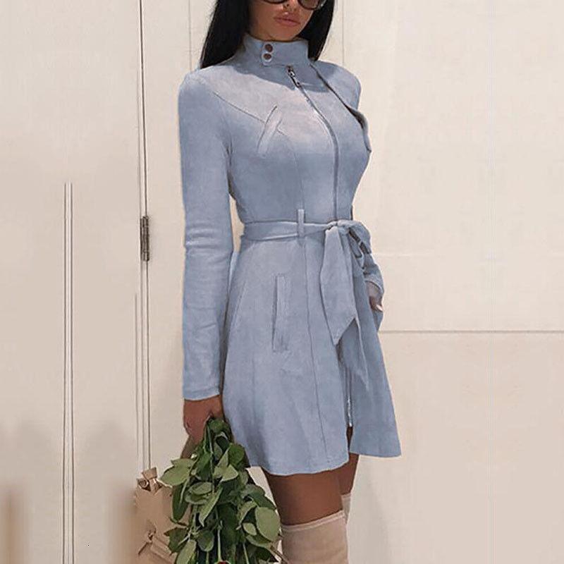 Brasão Mulher das senhoras revestimento revestimentos Mulheres Grande gola Belt bolso mistura de lã Brasão Coats Oversize Long Black Exteriores Mulheres Wool