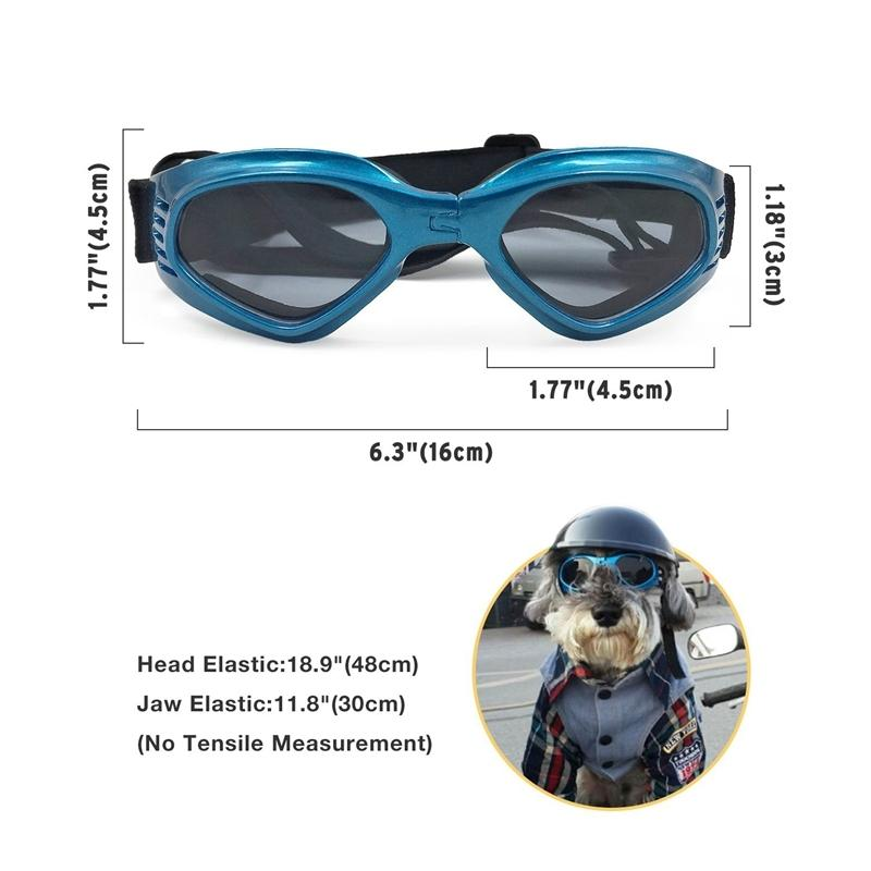 Stylish and Fun Pet Dog Puppy Uv Goggles Sunglasses Waterproof Protection Sun Glasses for Dog-Blue Dog Houses Kennels Accessories
