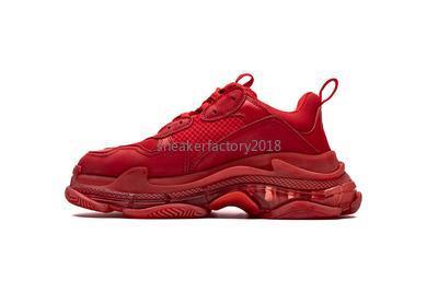 2020 Herren Damen Freizeitschuhe Trendy Luxuxentwerfer Sneaker Triple-S New Red Dad Schuhe Kristall Bottom Sneakers Kissen Plattform 8 Schicht Sole