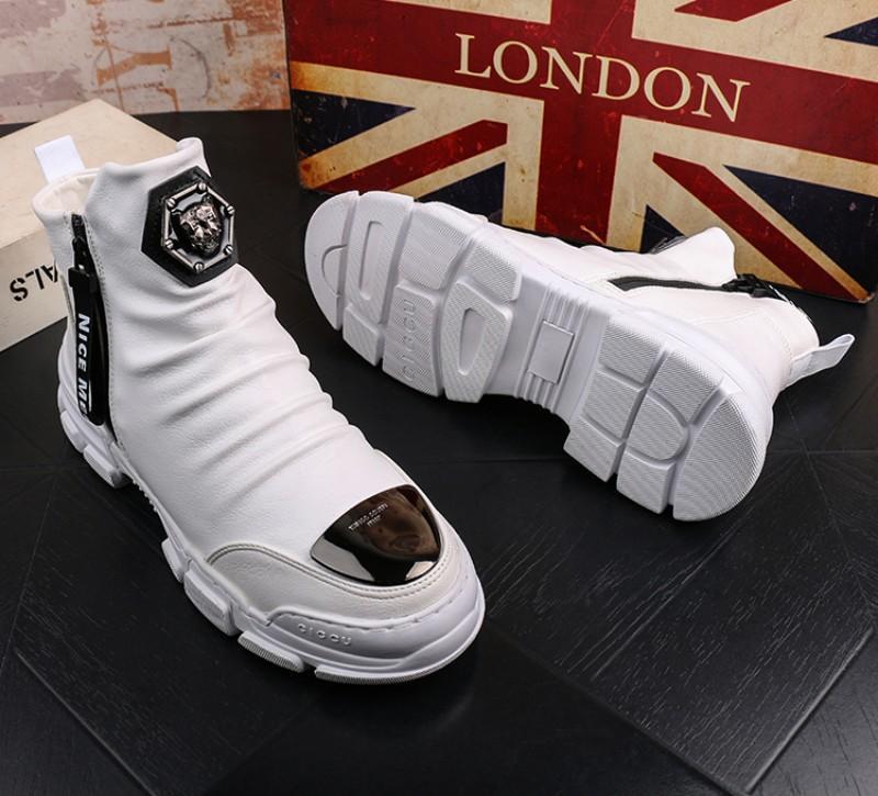 chaussures pour hommes de robe de designer Martin bottes de neige jeunes cheville occasionnels hommes botte haute coton botte de bootiesV45 en cuir chaud