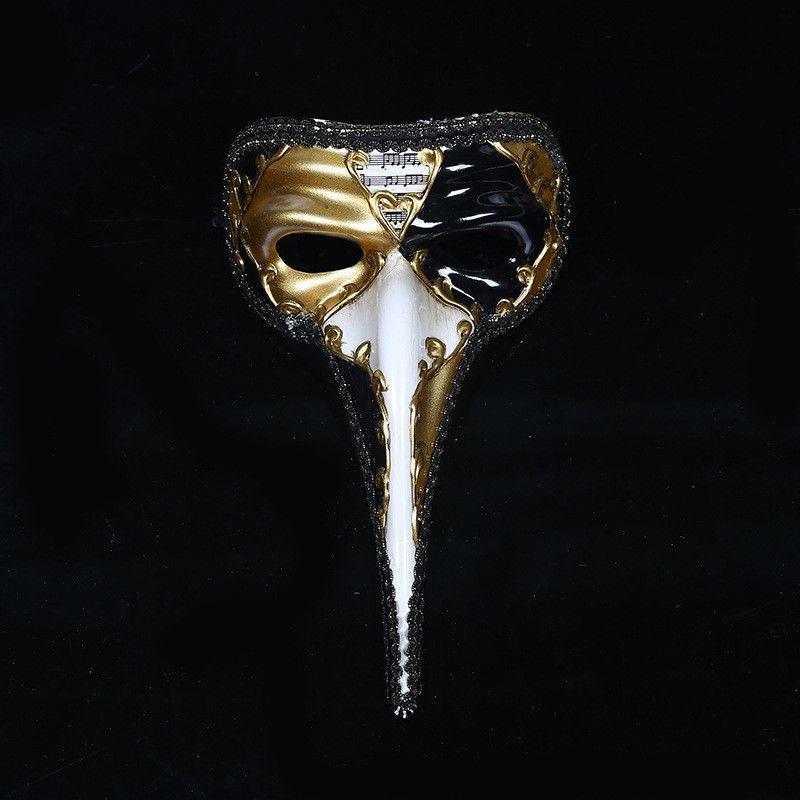 Neueste Long-nose Muster Make-up-Party-Masken kreative Persönlichkeit Entwurfs-Unisex Festival-Masken-Halloween Printed Männer Frauen Masken