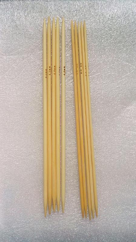 Nova-3 milímetros 4 milímetros 10pcs 20 centímetros de bambu Sock tricô agulhas, duplo ponto suave Weave ofício da agulha de tricô