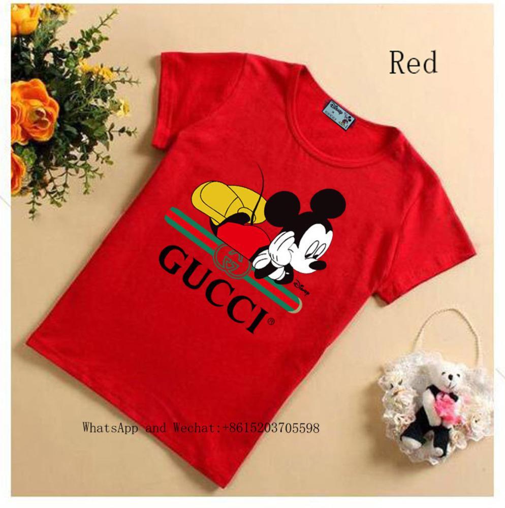 Verão Blusas T-shirt bonito de algodão fino manga curta de alta qualidade meninos meninas camisetas 031619