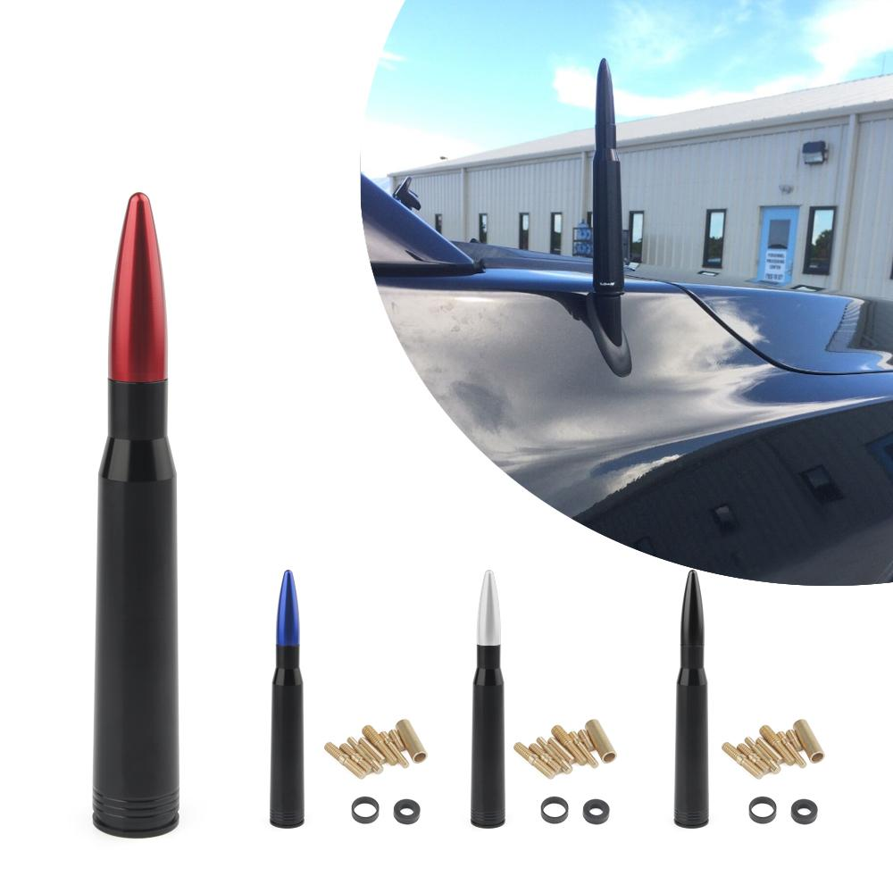 الألومنيوم سيارة SUV رصاصة هوائي ل Dodge RAM فورد F150 رابتور CRV RAV4 جيب 50 كال عيار رصاصة ذخيرة كيت هوائي قصير