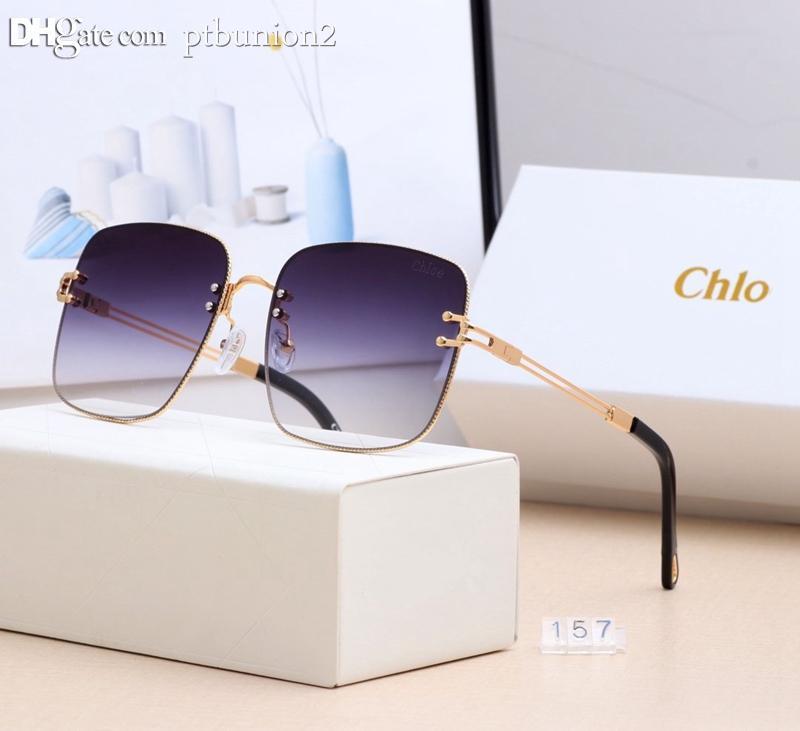 lunettes de soleil 22Chloe lentille pilote de marque Vintage design polarisé aviator sport mode luxe pour les hommes des femmes des hommes des femmes avec la boîte 157