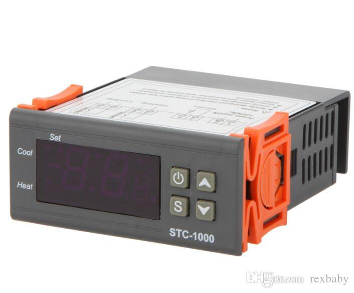Universale -50-99 gradi STC-1000 termostato digitale LCD regolatore di temperatura termostato w / sensore AC 110 V 220 V 24 V 12 V