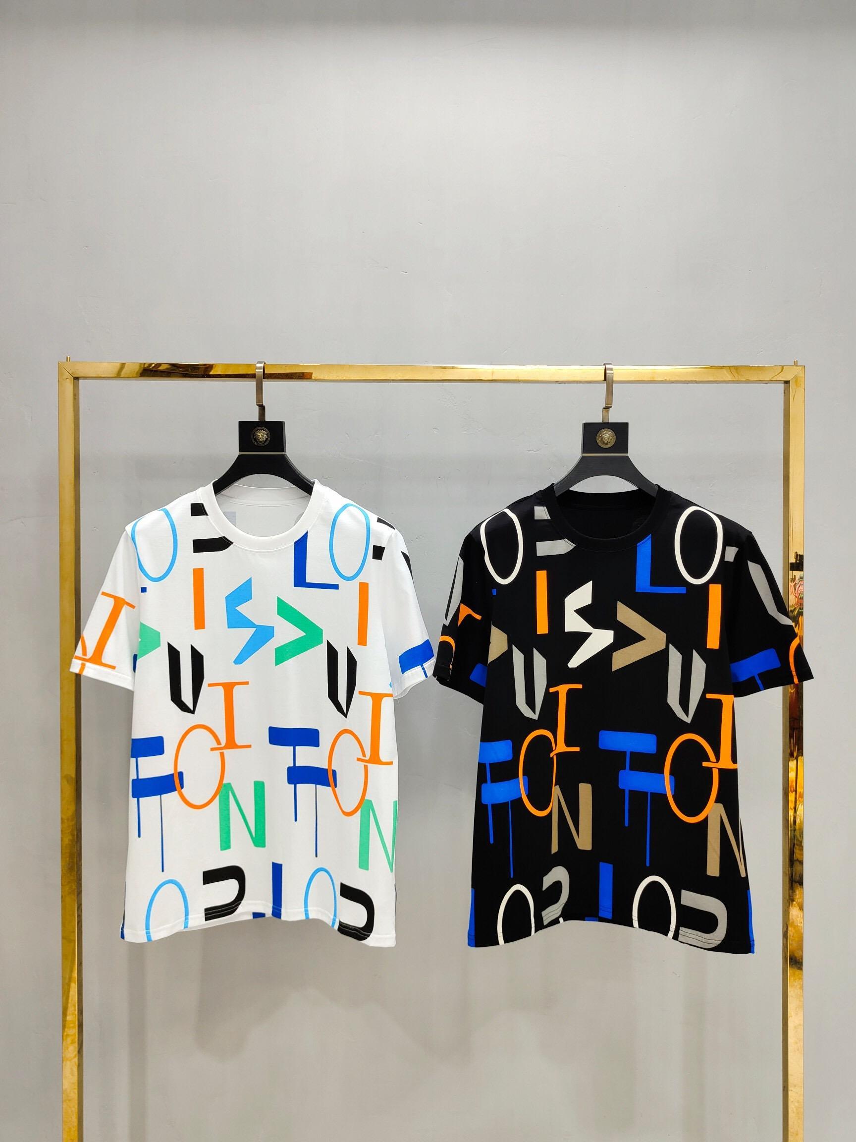 Verano 2020 de los hombres nueva camiseta impresa camiseta de la solapa Conjunto de la camisa de cuello redondo manga corta camiseta, tendencia de la moda camiseta informal para el tamaño de los hombres 15