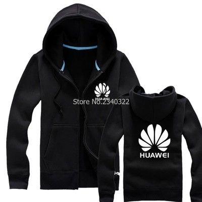 Automne Hiver Vêtements cardigan à glissière Huawei sweat-shirt nouvelle couleur unie manteaux veste ouvrier outillage