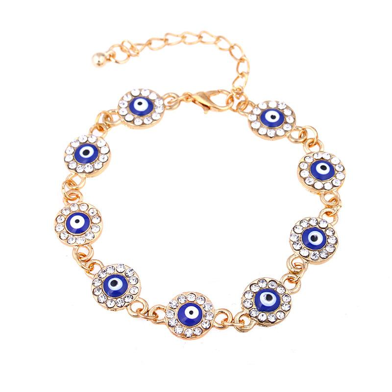 12 pcs Bracelet Hamsa Fatima Hand Evil Eye Beaded Charm Tibetan Gold .