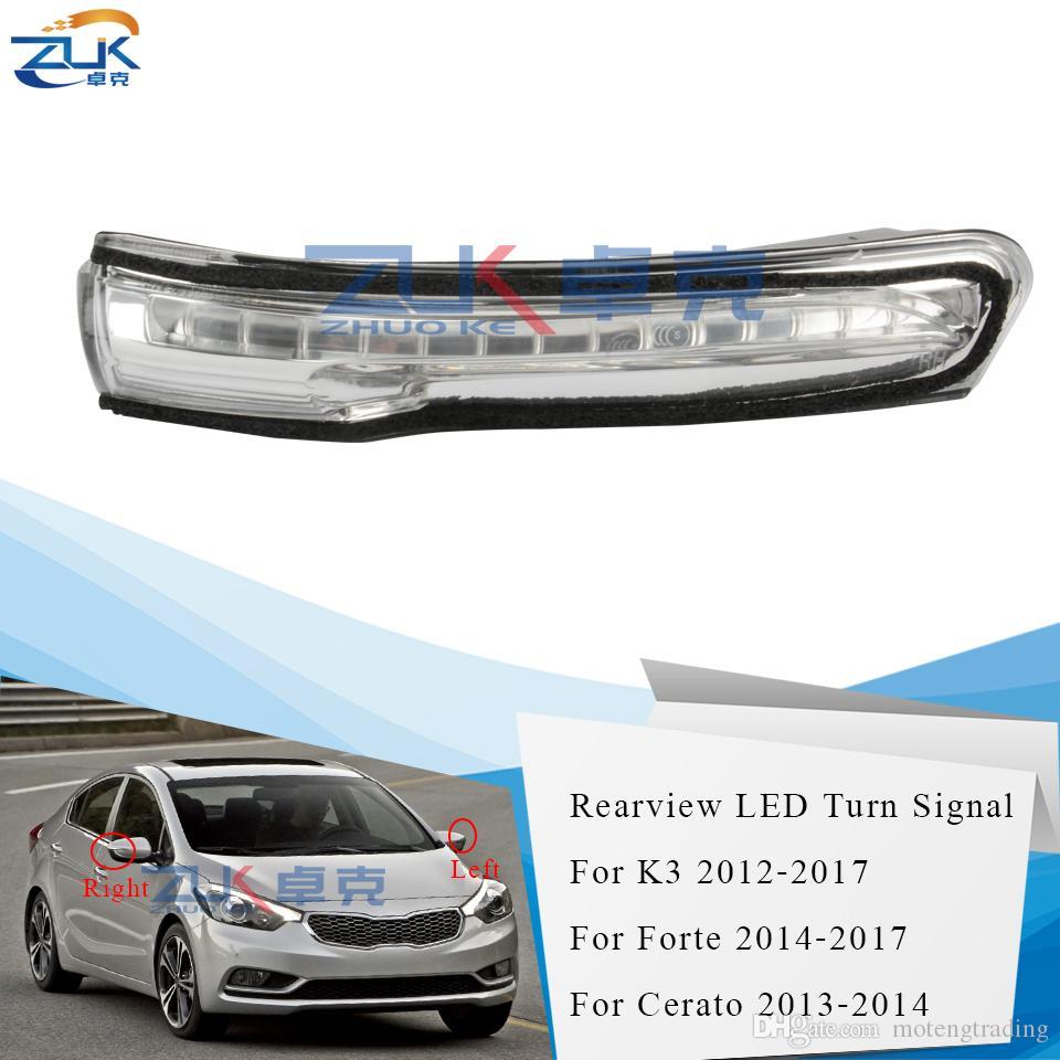 ZUK LED Dikiz Dönüş Sinyali Işık Yan Ayna Gösterge Lambası İçin KIA Forte Cerato K3 2012-2017 Yüksek Kalite ile Sızdırmazlık Şerit