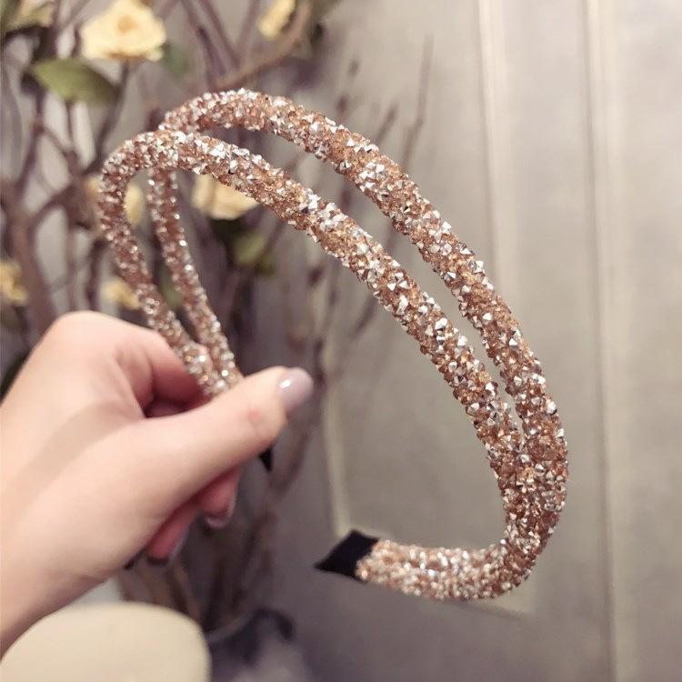 Mode Corée du cristal Bandeau pour les femmes strass hairband Perles Bezel Filles Accessoires cheveux Simple Couvre-chef