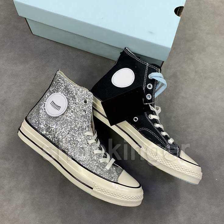 2020 New Canvas All Star Shoes Casual Mens Chuck Lantejoula altos das sapatas das mulheres 02