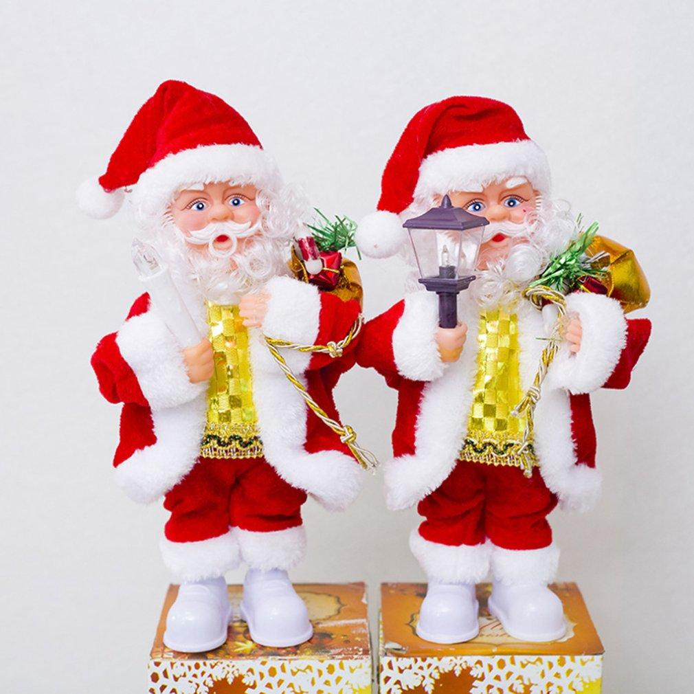 Santa Claus Music Father Christmas Figure Dancing Doll Xmas Gift Decoration Home
