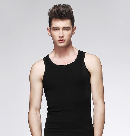 T-shirt sem mangas Muscle Wholesal Popular Homens Meninos Regatas fz0134 Sportwear Vest Undershirt Cinzento Branco XL-3XL
