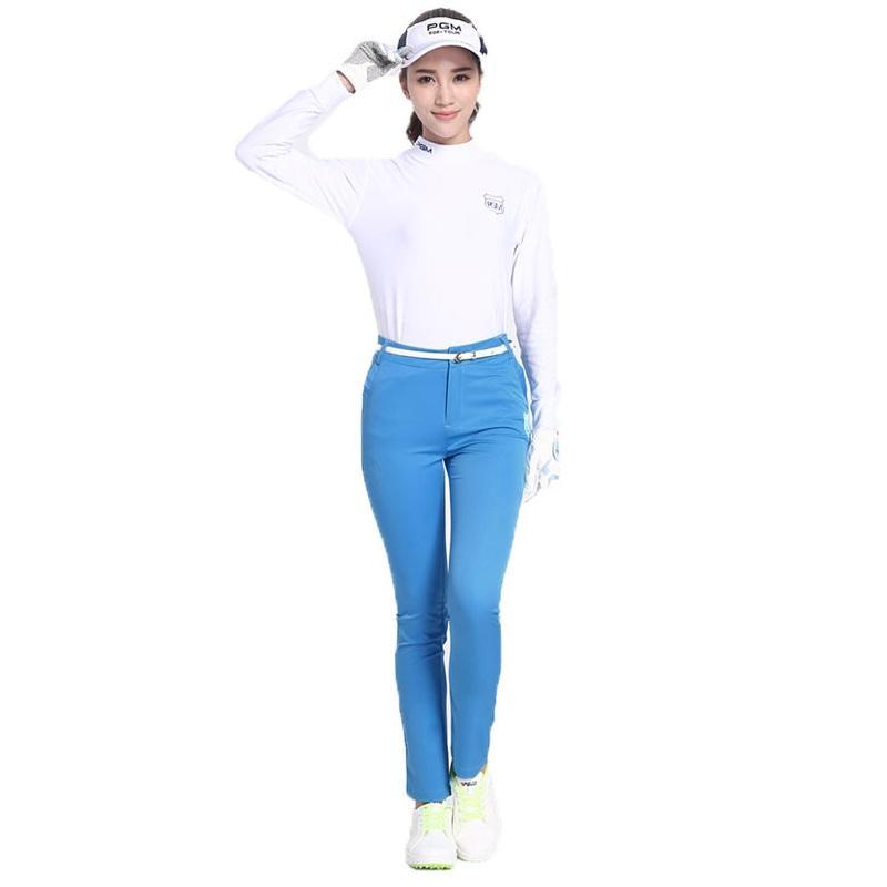 Pgm femmes taille haute Casual longues Pantalon Femme respirant haute élastique Pantalon Lady Golf Tennis Slim Vêtements mince AA51864
