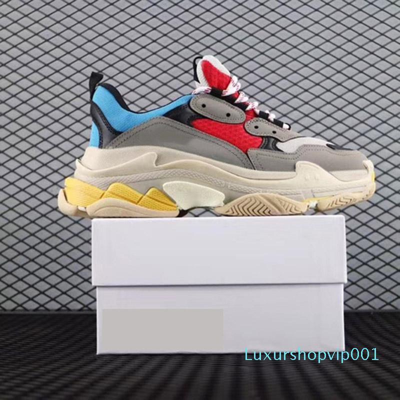 Paris Triple-S Walking Schuh Luxus Dad Schuhe Chaussures Femme Triple S 17FW Designer-Turnschuhe für Männer Frauen Vintage alten Großvater Trainer c1