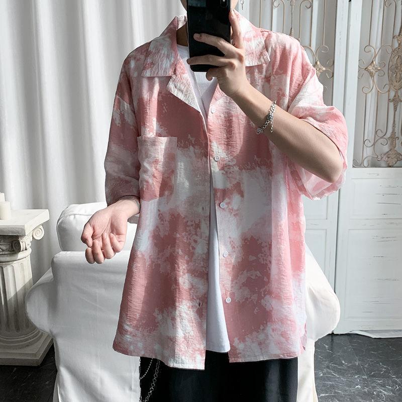 Moda 2020 uomini di estate a maniche corte stampa hawaiana camicia di cotone dei vestiti camice Camisa Masculina Mens grande formato M-5XL