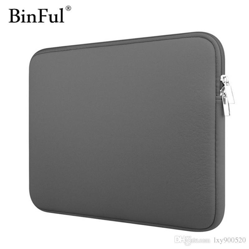"""BinFul Neopren laptop notebook çantası Kadın Erkek kol Bilgisayar Cep 11 """"12"""" 13 """"15"""" 15.6 """"Macbook Pro Hava Retina için Taşıma 14 inç"""