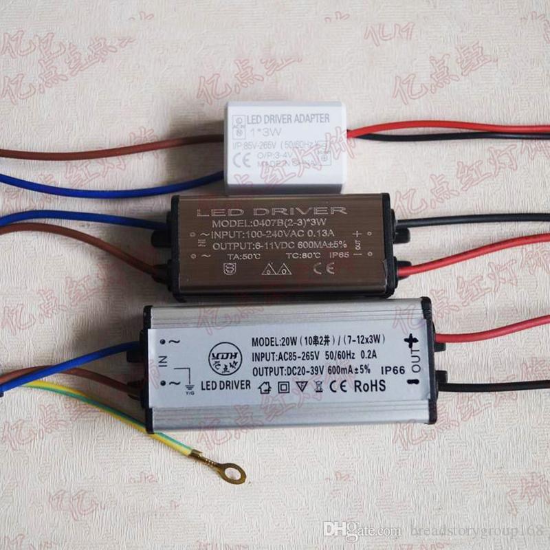 높은 전원 LED 드라이버 정전류 LED 드라이버 전원 공급 스포트 라이트 변압기 드라이버 36W 18W 9W 3W