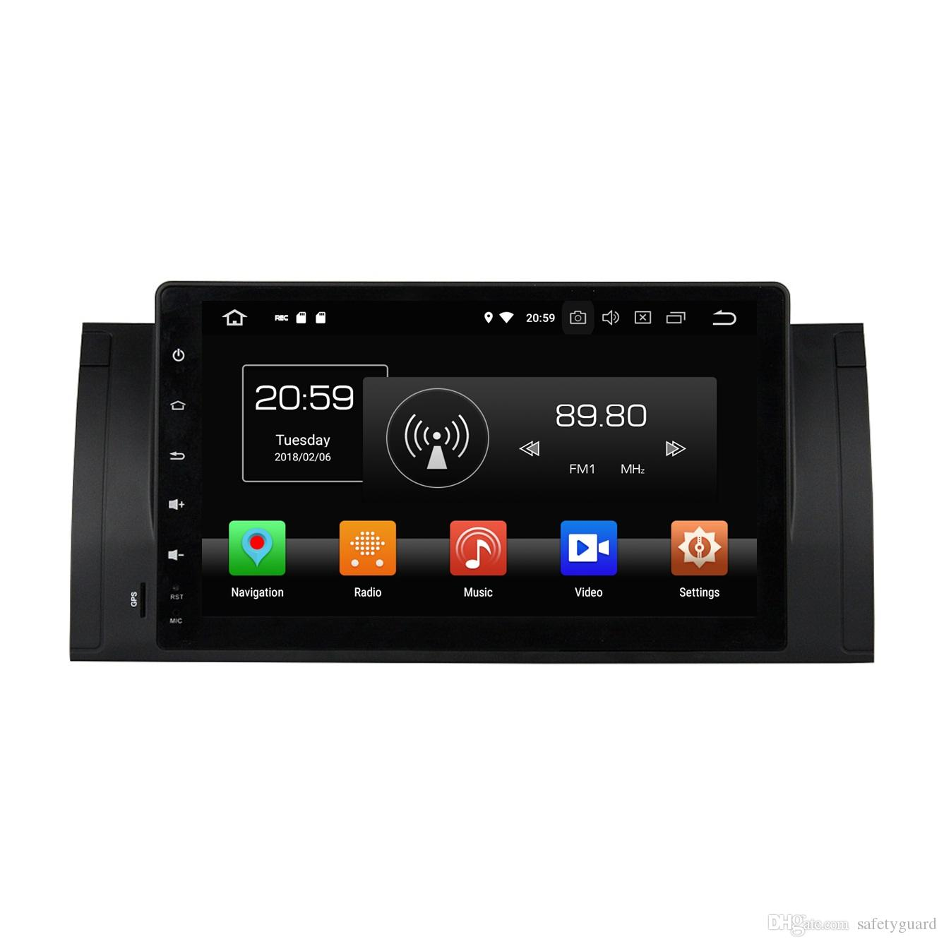 "4GB RAM Octa Core 1 din 9 ""Android 8.0 Car dvd Video Player for BMW M5 E39 X5 E53 مع راديو GPS بلوتوث WIFI USB مرآة رابط"