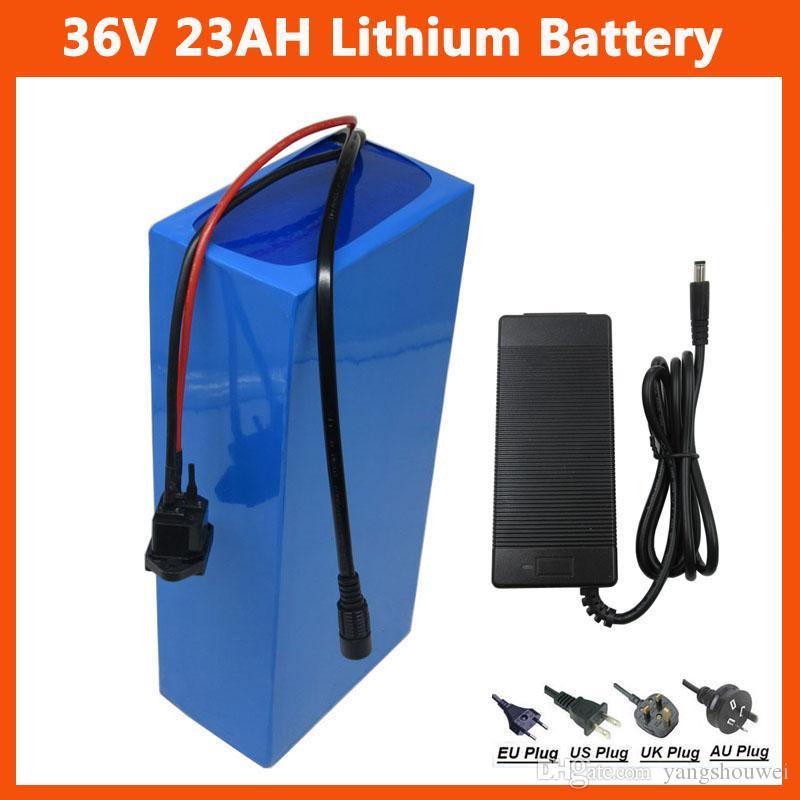 30A BMS 42V 2A şarj Ücretsiz gönderim Pil Kullanımı 2600mah 18650 Cell iyon 36V 23AH Ebike pil 36V 1000W Elektrikli Bisiklet lityum