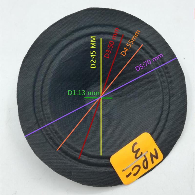 Free Shipping 1PC 2 Inch Speaker Cone Small Tweeter Cones Accessories 70 MM 13 MM 14 DIY Speaker Repair Accessories Black car