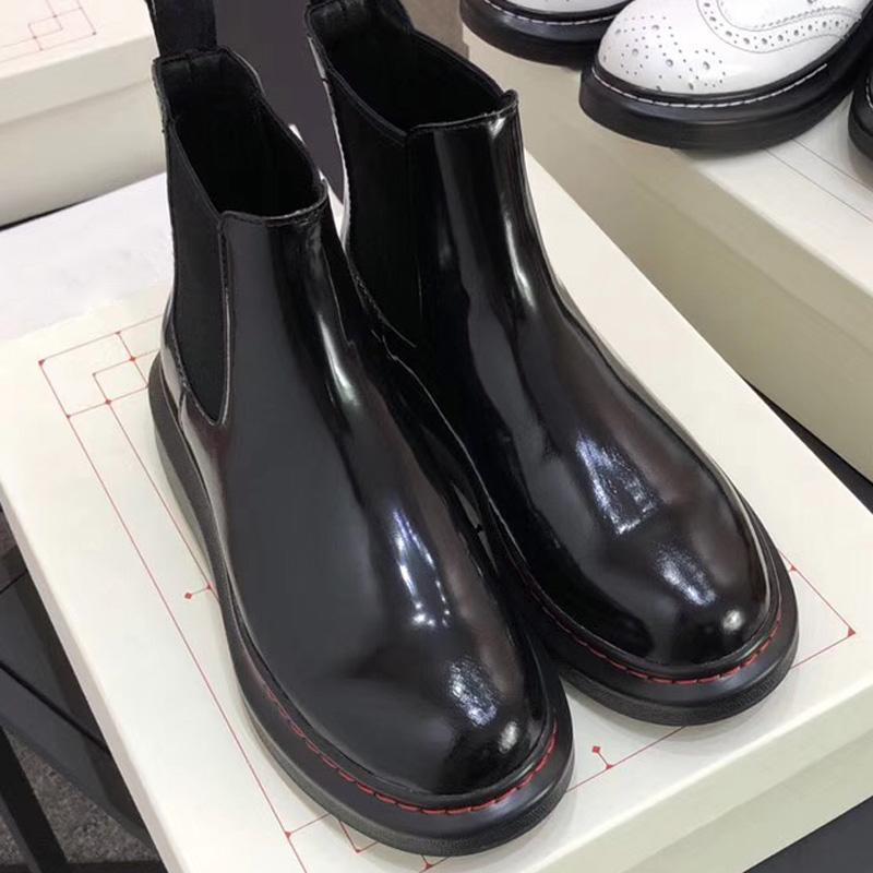 Vendita calda-Stivaletti da donna Designer Martin Desert Boot Scarpe invernali antiscivolo grossolane in vera pelle taglia 35-40