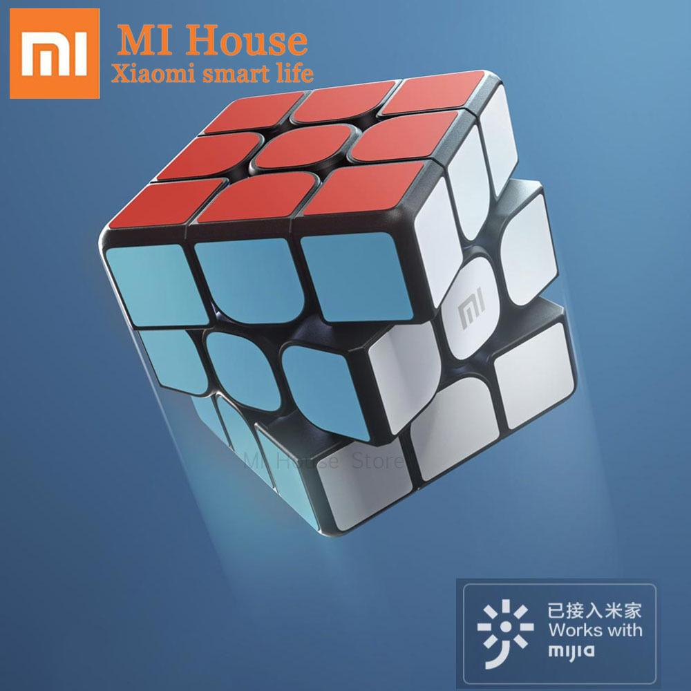 Original Xiaomi Mijia Bluetooth5.0 Smart Cube Magnetic Cube Square Magic Cube Puzzle Science Education Works with Mijia app Y200428