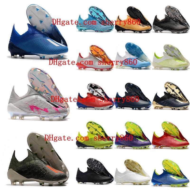 kramponlar ucuz X 18 FG futbol ayakkabıları X 19 botas de futbol açık 2019 erkek futbol ayakkabıları X 19 FG