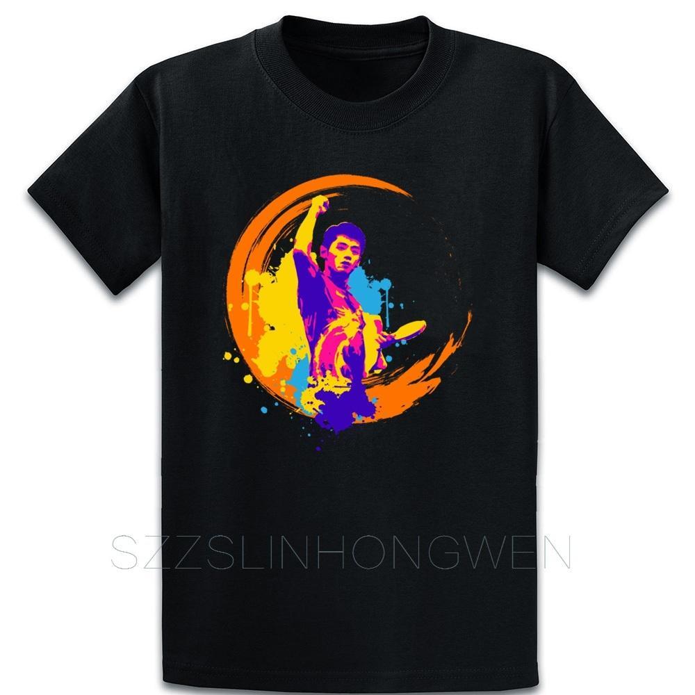Swing It Und Slash Es Ping Pong Meisterschaft T-Shirt Fit Baumwolle Charakter Kawaii Fest Farbe Frühling und Herbst Art und Weise O-Ansatz Hemd
