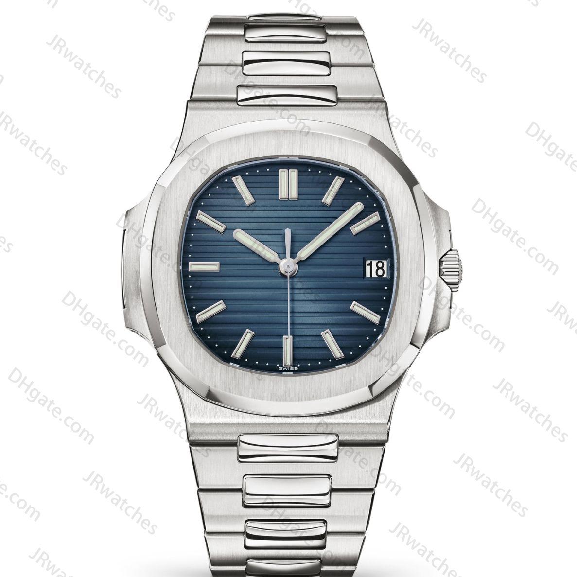 Homens do relógio de aço clássico moda cinto de calendário mecânico automático 40 mm relógio de aço inoxidável dos homens luminosa mergulho negócio 30M impermeável