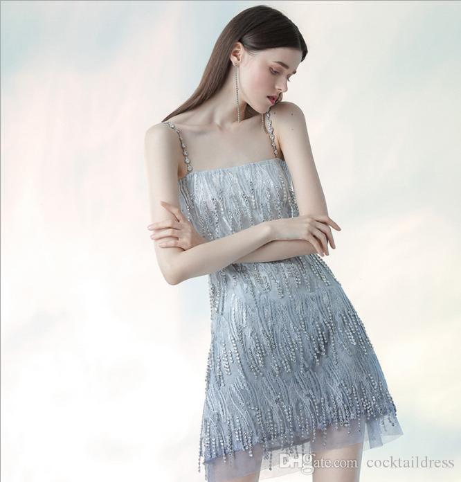 Verão desgaste temperamento elegante sexy hot Bling Bling diamante brilho halter vestido de alta qualidade vestido de cocktail