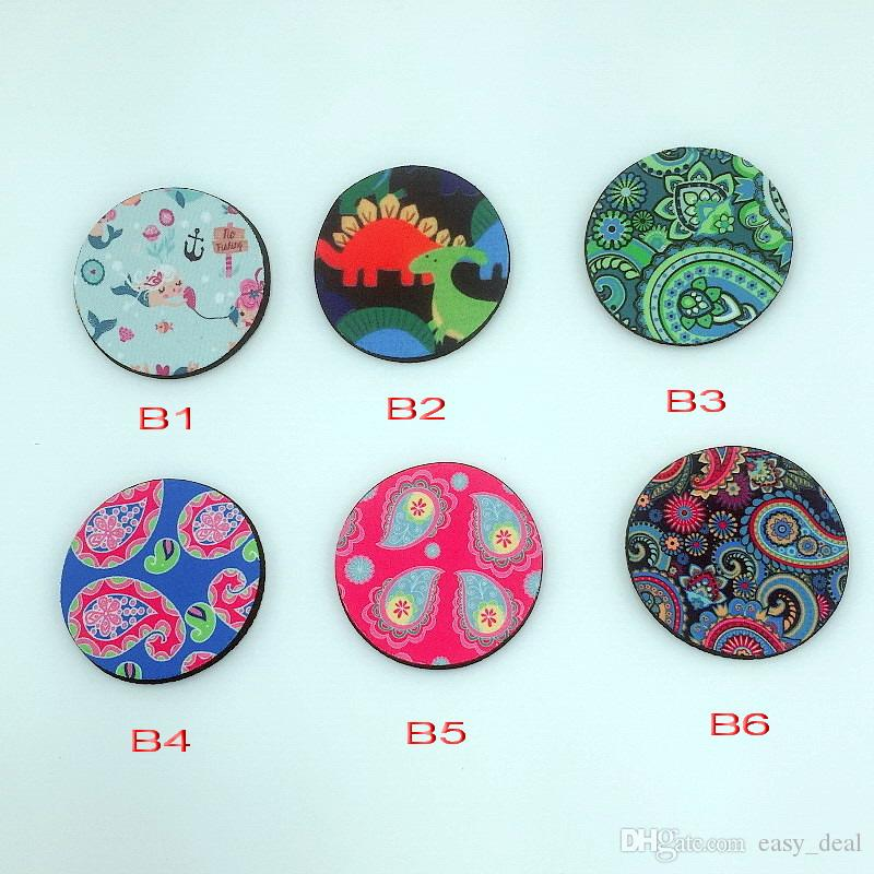 Neopreno Taza de Coche Mat Contraste Taza Coaster Cartoon Teacup Rainbow colores Pad para la decoración del hogar Accesorios