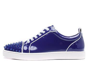 Designer Red Mocassini di fondo per scarpe casual donne degli uomini autentico Slittamento di cuoio su piattaforma Sneakers Wedding Party Flats Shoes Men C ma77